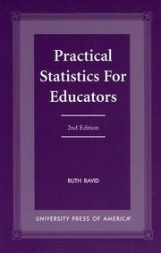Cover of: Practical statistics for educators | Ruth Ravid