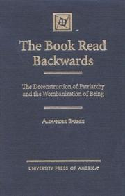 Cover of: The book read backwards