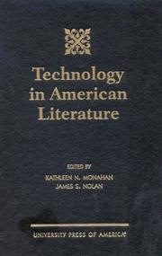 Cover of: Technology in American literature |