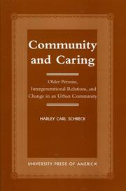Cover of: Community and Caring