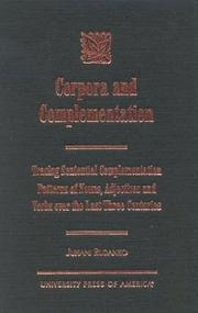 Cover of: Corpora and complementation