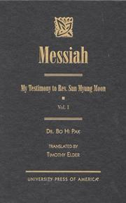 Cover of: Messiah | Dr. Bo Hi Pak