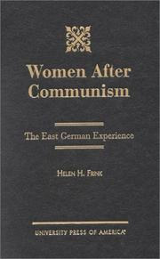 Cover of: Women After Communism | Helen H. Frink