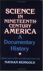Cover of: Science in nineteenth-century America |