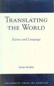 Cover of: Translating the world