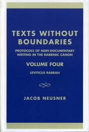 Cover of: Texts without boundaries | Jacob Neusner