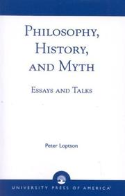 Cover of: Philosophy, history, and myth | Peter Loptson