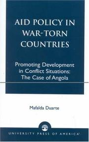 Aid policy in war-torn countries by Mafalda Duarte