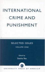 Cover of: International Crime and Punishment: Selected Issues