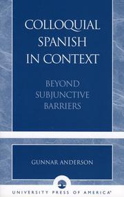 Cover of: Colloquial Spanish in context | Gunnar Jay Anderson