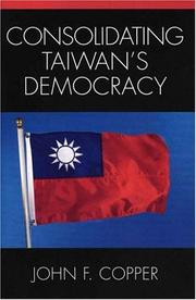 Cover of: Consolidating Taiwan's Democracy