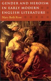 Cover of: Gender and heroism in early modern English literature