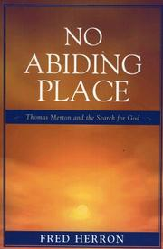 Cover of: No Abiding Place