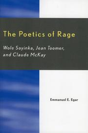 Cover of: The Poetics of Rage | Emmanuel E. Egar
