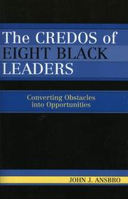 Cover of: The Credos of Eight Black Leaders | John J. Ansbro