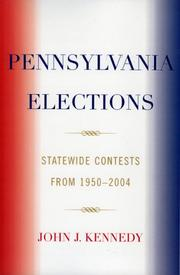Cover of: Pennsylvania Elections