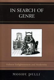Cover of: In Search of Genre