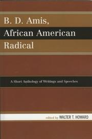 Cover of: B.D. Amis, African American Radical