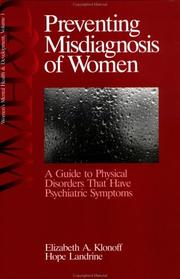 Cover of: Preventing misdiagnosis of women