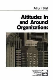 Cover of: Attitudes in and around organizations