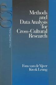 Cover of: Methods and data analysis for cross-cultural research / Fons van de Vijver, Kwok Leung