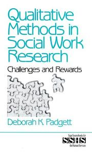 Cover of: Qualitative methods in social work research