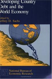 Cover of: Developing country debt and the world economy |