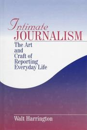 Cover of: Intimate journalism
