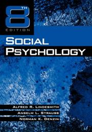 Cover of: Social Psychology | Alfred R. Lindesmith