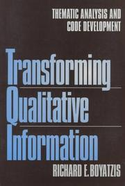 Cover of: Transforming qualitative information by Richard E. Boyatzis