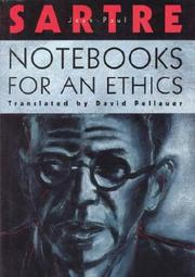Cover of: Notebooks for an ethics | Jean-Paul Sartre