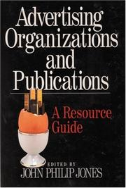 Cover of: Advertising Organizations and Publications