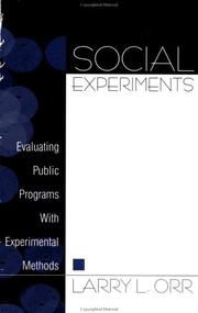 Cover of: Social Experiments
