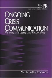 Cover of: Ongoing Crisis Communication | W. Timothy Coombs
