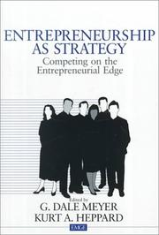 Cover of: Entrepreneurship as Strategy | G. Dale Meyer
