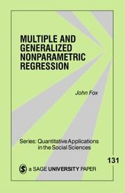 Cover of: Nonparametric Simple Regression
