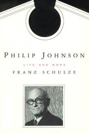 Cover of: Philip Johnson | Schulze, Franz