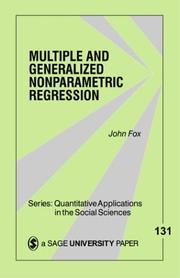 Cover of: Multiple and Generalized Nonparametric Regression (Quantitative Applications in the Social Sciences)