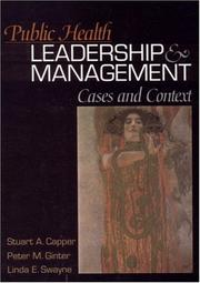 Cover of: Public Health Leadership and Management: Cases and Context