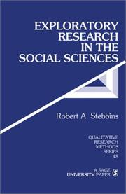 Cover of: Exploratory research in the social sciences | Robert A. Stebbins