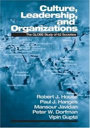 Cover of: Culture, Leadership, and Organizations |