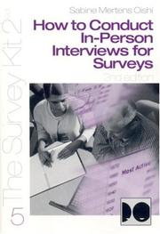 Cover of: How to Conduct In-Person Interviews for Surveys