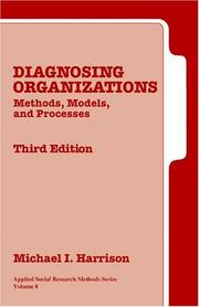 Cover of: Diagnosing organizations | Michael I. Harrison