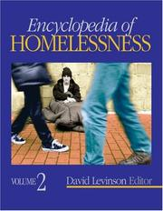 Cover of: Encyclopedia of Homelessness