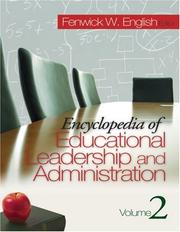 Cover of: Encyclopedia of educational leadership and administration by