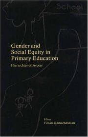 Cover of: Gender and Social Equity in Primary Education | Vimala Ramachandran