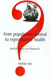 Cover of: From Population Control to Reproductive Health | Mohan Rao