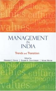 Cover of: Management in India |