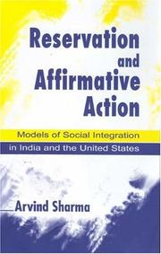 Cover of: Reservation and Affirmative Action | Arvind Sharma