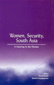 Cover of: Women, Security, South Asia |